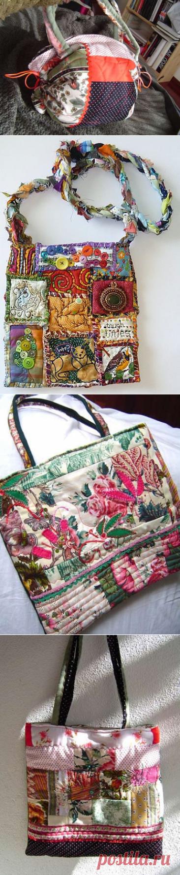 Лоскутные сумки в стиле пэчворк — идеи для вдохновения | Мой Милый Дом — идеи рукоделия, вязание, декорирование интерьеров