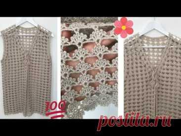 Yelpaze Desenli Yelek Modeli Yapımı   Knitting Patterns