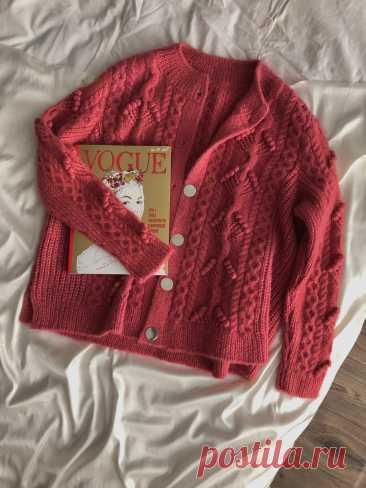 Готовая работа: как я вязала ягодный кардиган из Drops Air (много фото) | Anna Kuznetsova Knitting | Яндекс Дзен