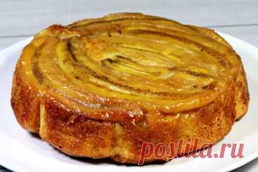 Пирог с карамельными бананами – рецепт с фото