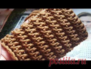 Потрясающей красоты рельефная резинка спицами 👸 knitting pattern. - YouTube