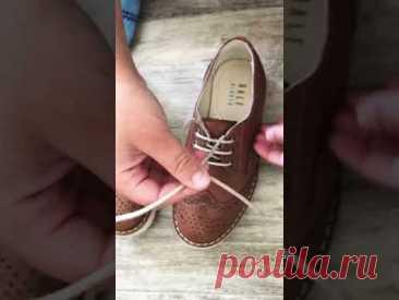 Как научиться ребёнку завязывать шнурки