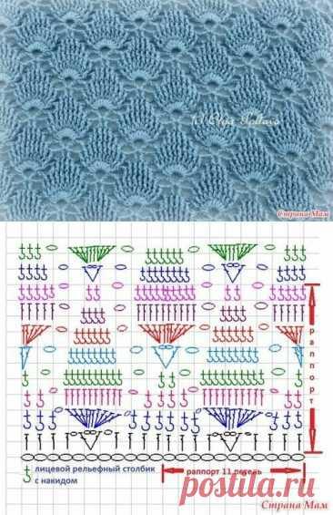 Нашла очень красивые узоры для вязания крючком (25 схем) - делюсь   Факультет рукоделия   Яндекс Дзен