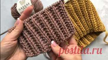 Супер классная двусторонняя резинка для шапок (Вязание спицами) – Журнал Вдохновение Рукодельницы