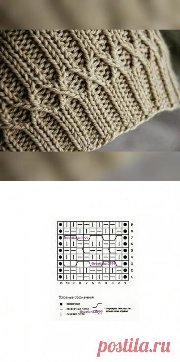 Красивый нюанс в оформлении резинки 2х2 спицами