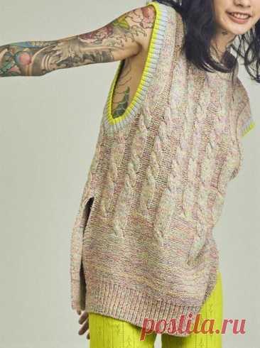 Модные, стильные, эффектные! Подборка вязаных жилетов и безрукавок (часть 3)   Идеи рукоделия   Яндекс Дзен