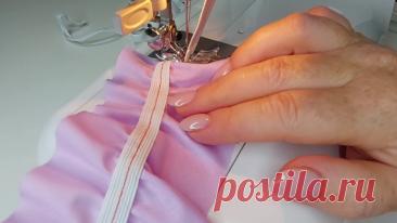 Люблю всякие швейные уловки. Покажу, как настрочить резинку рамномерно, очень быстро и в любом количестве | Мой стиль DIY | Яндекс Дзен