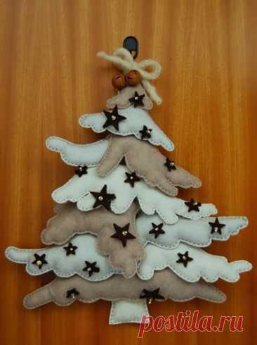Выкройки ёлочек из фетра на любой вкус для новогоднего декора | ИЗ ФЕТРА | Яндекс Дзен
