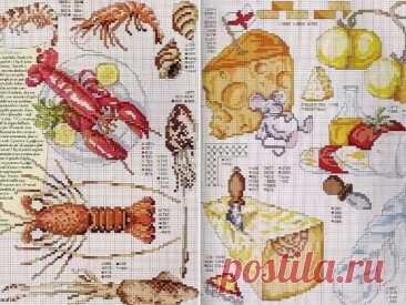 Вышивка крестом: схемы для кухни ~ Свое рукоделие Подборка: Схемы вышивки крестом для кухни. Ведь многие рукодельницы любят украшать кухню вышивкой крестом.