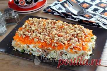 Салат «Старая гавань» — рецепт с фото пошагово + отзывы. Как приготовить слоеный рыбный салат с печенью трески слоями?