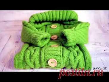 Комбинезон для малыша спицами. Описание вязания