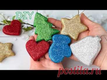 3D Новогодние игрушки на ёлку из фоамирана Самодельный молд для объёмных фигур / Diy Christmas toys