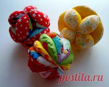 Мячи из ткани - безопасная игрушка для деток....