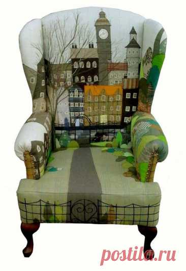 La butaca-ciudad la ropa A la moda y el diseño del interior por las manos