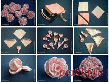 Цветы из салфеток: как сделать розу и другие цветы