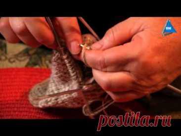 Как вязать носки спицами мастер класс - урок 6