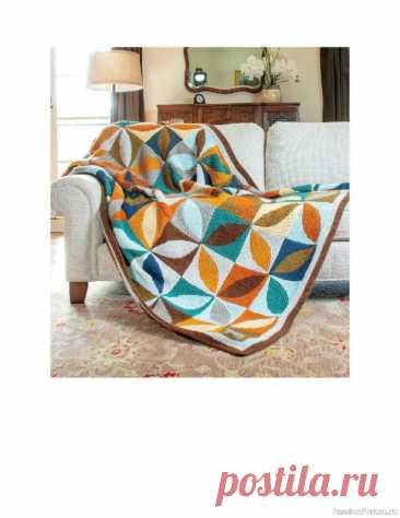 Схемы узоров для вязанных одеял. Geometric Knit Blankets   Вязание спицами аксессуаров