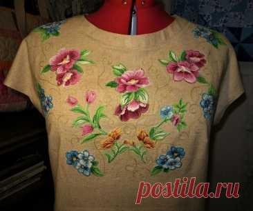Маленькая льняная блузка как альтернатива футболке для возрастных девчонок. | Я арт квилтер | Яндекс Дзен