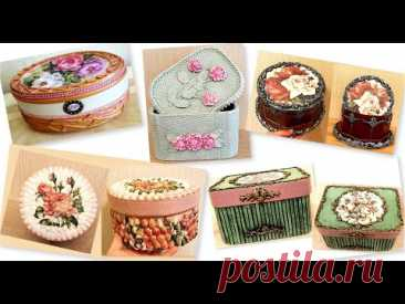 DIY/5 Beautiful jewelry boxes ideas / Home decor ideas/Cardboard craft