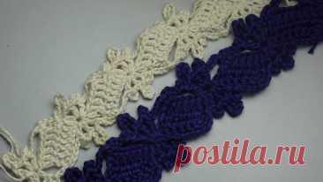 Схема для вязания ленточного кружева или каймы