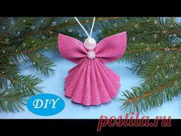 😇АНГЕЛ из фоамирана🎄НОВОГОДНИЕ ИГРУШКИ своими руками😇DIY Christmas Angels Foam Eva🎄Adornos navideños para decorar rasta Просматривайте этот и другие пины на доске Новый год пользователя Irina Zhilun.