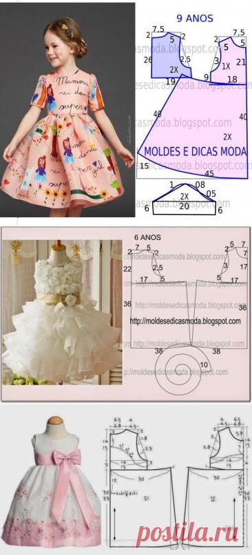 Платья для девочки с выкройкой (подборка) / Простые выкройки / ВТОРАЯ УЛИЦА