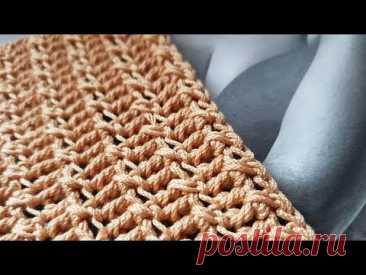 Плотный узор крючком для вязания сумок 🌶. Crochet pattern for bags.