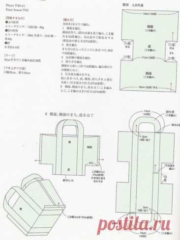 Схема простой сумки - Помощь в вязании - Страна Мам
