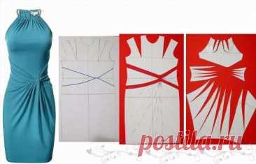 Моделирование платья со сложной драпировкой . Милая Я