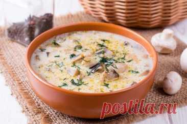 Невероятный грибной суп с баклажанами