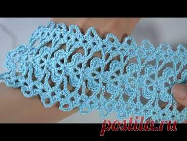 Crochet Lace Pattern/ Crochet Lace BORDER/ CROCHET CHART