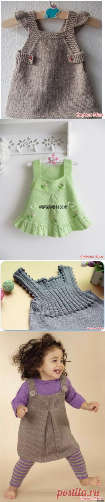 * Podborochka of sundresses for girls spokes - Knitting for children - the Country of Mothers
