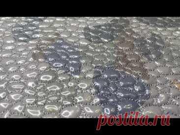 Заготовка из остатков от шитья с 3Д эффектом «морская галька» Утилизируем обрезки, и создаем шедевры