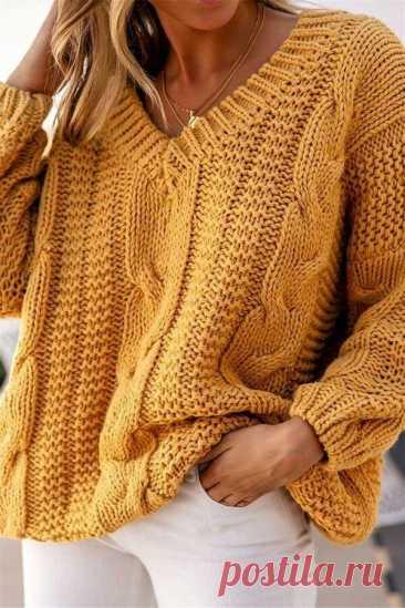 Идеи для свитера с V-образным вырезом   О чем думают вязальщицы   Яндекс Дзен