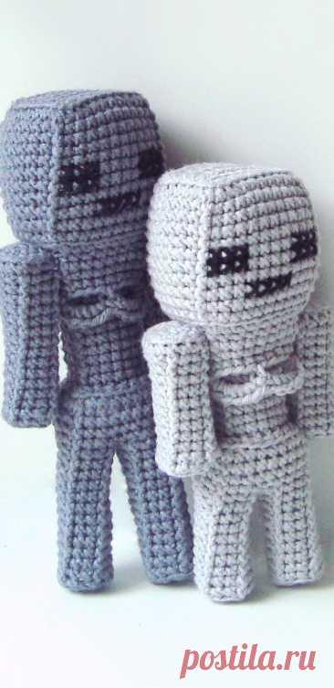 PDF Скелет из Майнкрафта крючком. FREE crochet pattern; Аmigurumi doll patterns. Амигуруми схемы и описания на русском. Вязаные игрушки и поделки своими руками #amimore - майнкрафт, minecraft, скелет, skeleton, squelette, Skelett, кукла, куколка.