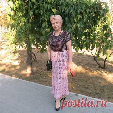 Комбинированное летнее платье - Lilia Vignan