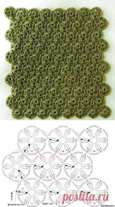 Очень много схем для безотрывного вязания!