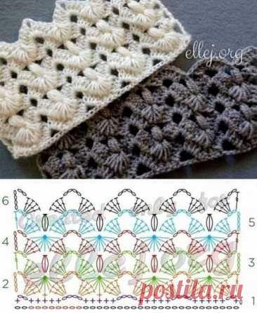 5 узоров крючком #crochet #вязание_крючком #узоры_крючком
