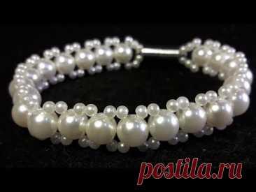 Elegante y Sutil Pulsera de Perlas...Clase #59!!!