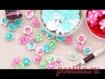 3 ИДЕИ розочек из бумаги без дыроколов / Бумажные цветы своими руками / DIY paper flowers