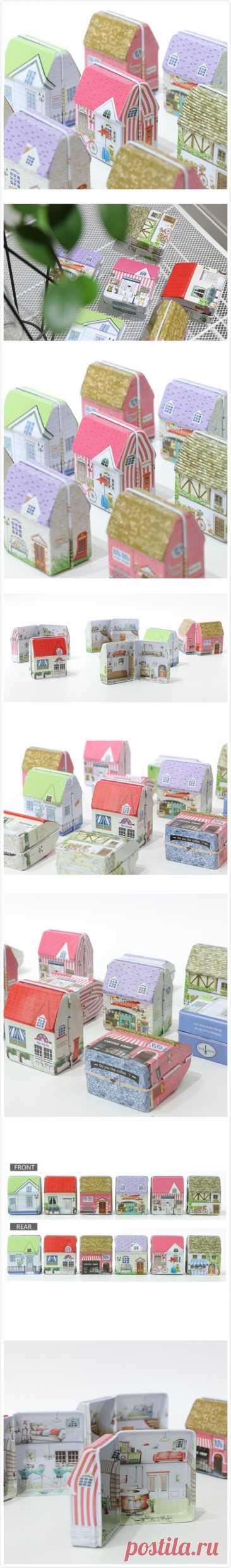 Мини Оловянная коробка для хранения, винтажный дом, Оловянная коробка для хранения монет, коробка для хранения ювелирных изделий с милым принтом для девочек, 2019 микс пачка, 6 видов конструкций box box chairbox unlock   АлиЭкспресс