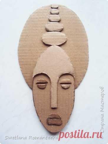 Las máscaras del cartón.   el país de los Maestros