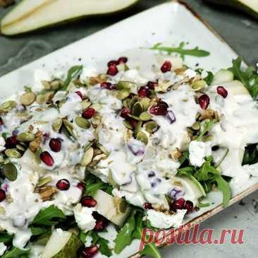 Легкий салат с грушей и сыром фета — оригинальный рецепт | ВокругСада.ру