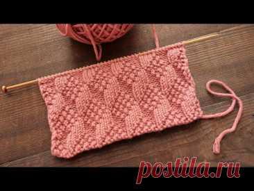 Рельефный узор из лицевых и изнаночных 🎲 Knit - purl Knitting pattern