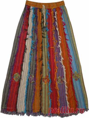 Barista Юбка из хлопка с оборками в стиле пэчворк