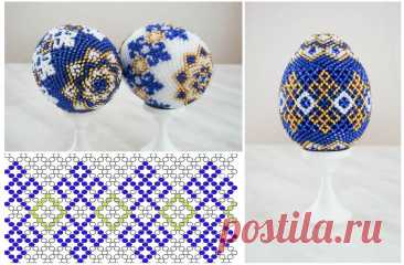 Easter eggs from beads, master classes of weaving, the scheme