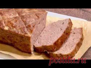 Леберкезе (мясной хлеб) -вкуснейшая домашняя колбаса, ммм..не оторваться/ Леберкез - домашна рецепта