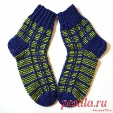 Мужские носки в клетку - Вязание - Страна Мам