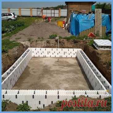 Решил сам построить на даче бассейн, все получилось, как и задумывал. Фото работ.   Добрый дачник   Яндекс Дзен