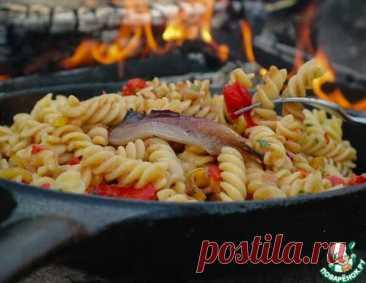 Паста с соусом из запеченного перца и анчоусов   Вкусные кулинарные рецепты